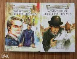 4 Sherlock Holmes books for sale.