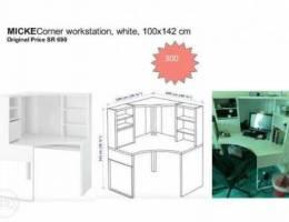 MICKE Corner workstation desk