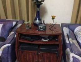 Strong wooden stand (with cupboard)