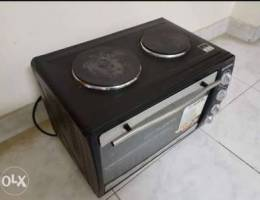 43 L oven with top hot plates