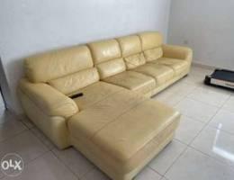 Leather left corner Sofa original