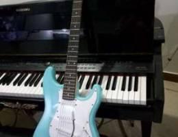 Electric guitar Fender stratocaster sky bl...