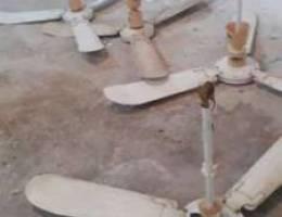مراوح سقف نص عمر كهرباء ١١٠